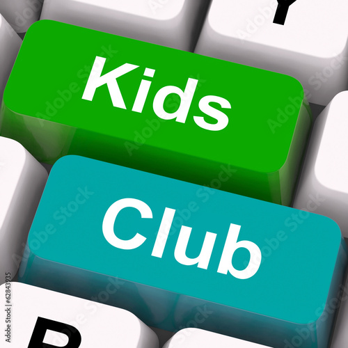 Kids Club Keys Mean Childrens Playing And Entertainment