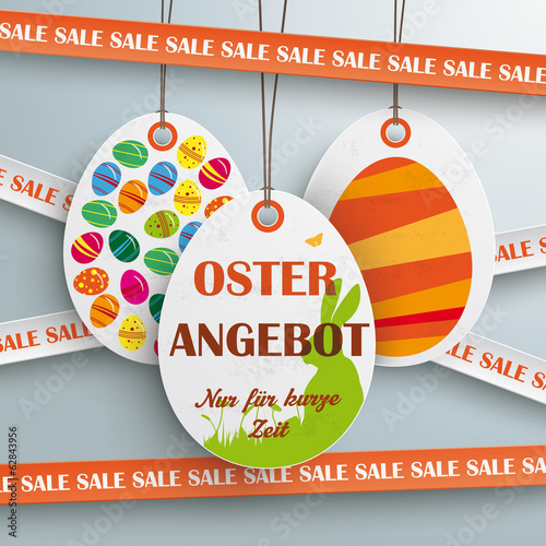 Sale Sticker Lines Easter Offer