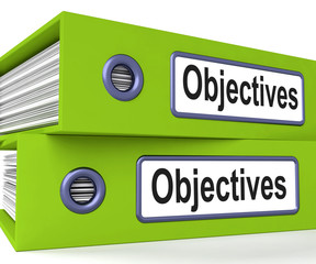 Objectives Folders Mean Business Goals And Targets
