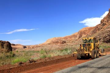 chantier au bord du Colorado