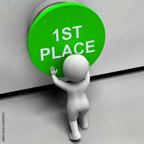 First Place Button Shows 1st Place And Winner