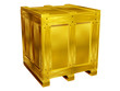 golden shipping box