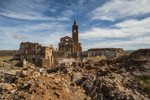 Belchite viejo in Zaragoza, Spain