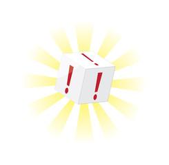 esclamation cube