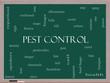 Pest Control Word Cloud Concept on a Blackboard