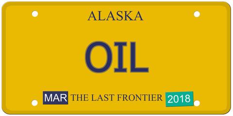 Oil Alaska License Plate