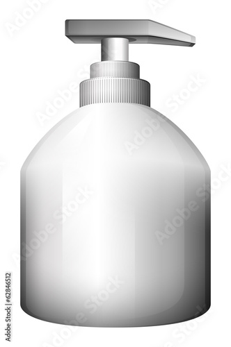 A lotion bottle