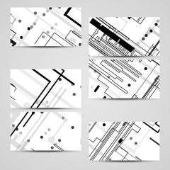 Vector business-card set for your design, circuit board