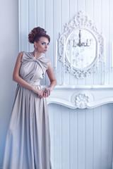 High fashion shot of young beautiful woman
