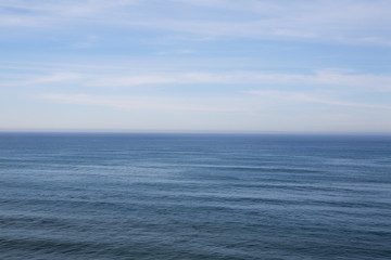 The ocean view from the coast at Big Sur on the California coastline.