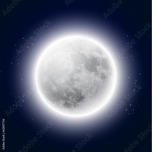 Fototapeta Full moon in the night sky