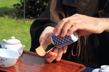 Cerimonia del tè giapponese cultura orientale bevande