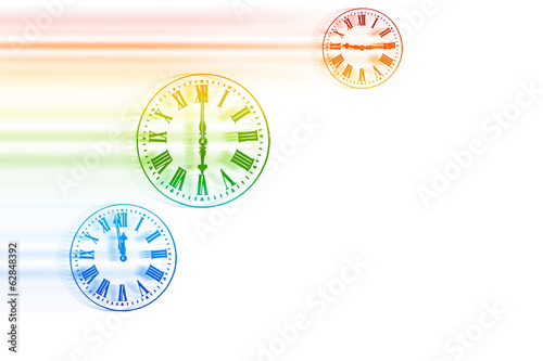 Time Flies - Rainbow Speeding Clocks