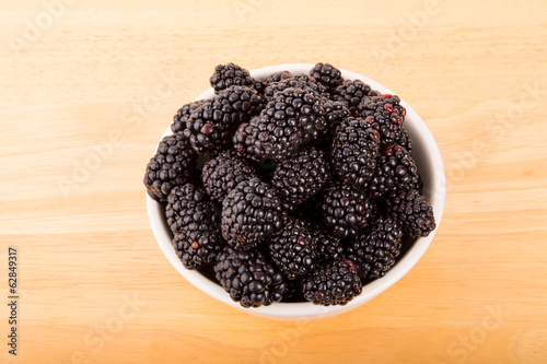 Fresh Blackberries in Bowl