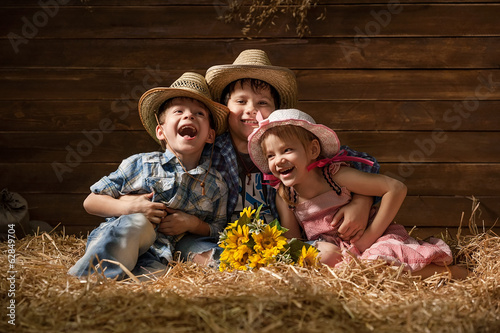 Portrait of happy children