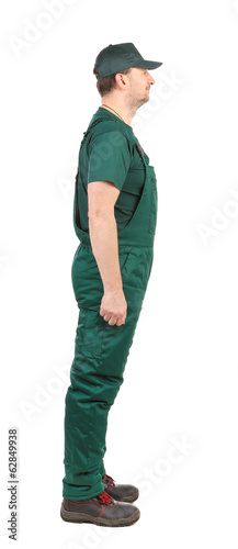 Profil Man in green  overalls