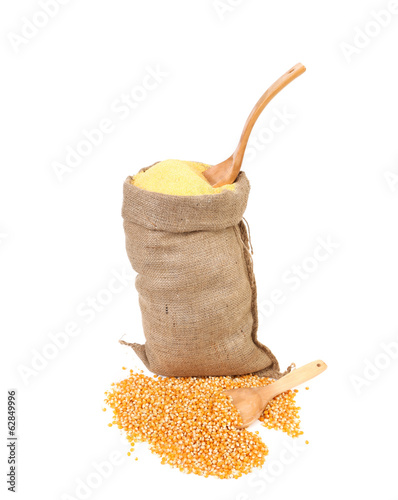 Bag with corn flour