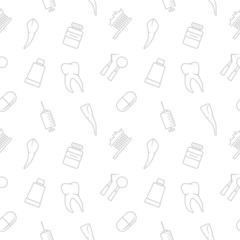 Seamless teeth pattern