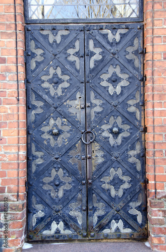 old historical ornamental metal door