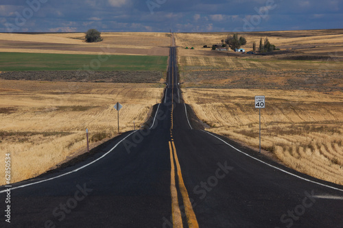 Rural road, Palouse, Washington, USA