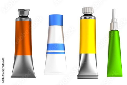 realistic 3d render of tubes set