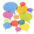 Gossip Concept - Abstract Watercolor Painted Speech Bubbles