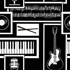 Seamless pattern of musical attributes