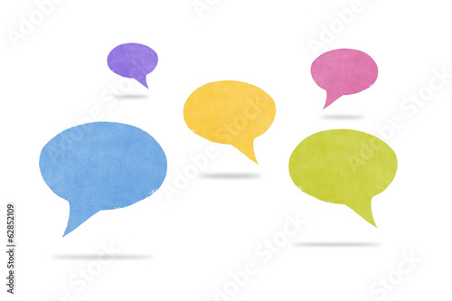 Abstract Watercolor Hovering Speech Bubbles with Shadows