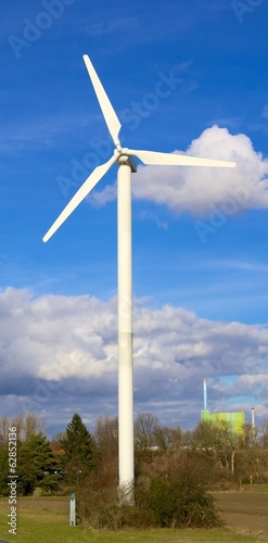 Wind turbine and factory