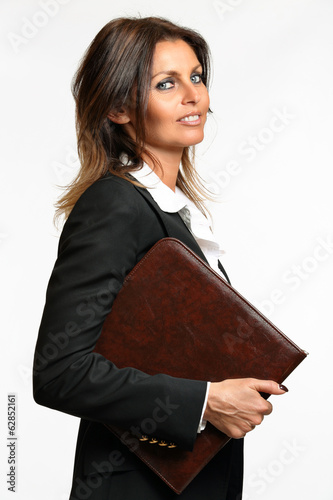 Business woman smart expression