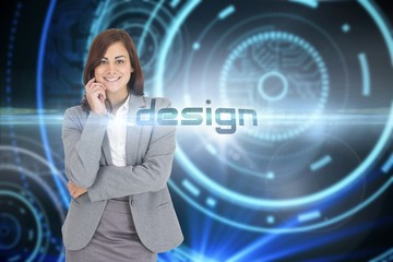 Design against futuristic technological background