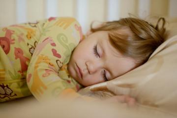 sleeping toddler girl