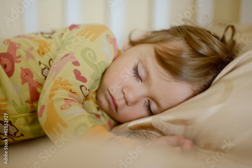 sleeping toddler girl