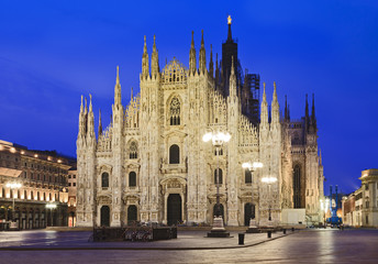 Milan Duomo Right Sunrise