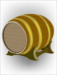 Wooden wine barre