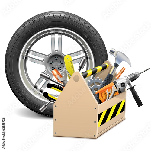 Vector Wheel with Toolbox