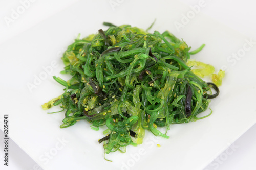 Chuka Wakame seaweed salad.  Traditional japanese food