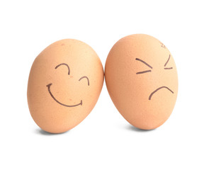 smiley and angry egg
