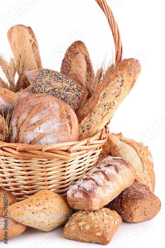 Plexiglas Brood bread in wicker basket