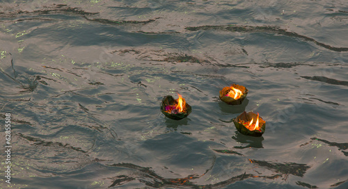 Candle offering at Kumbh Mela, Haridwar, India