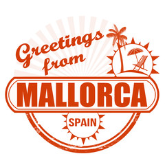 Greetings from Mallorca stamp
