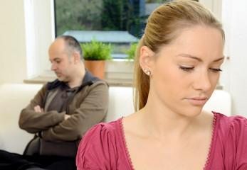 Paar in Beziehungs-Krise