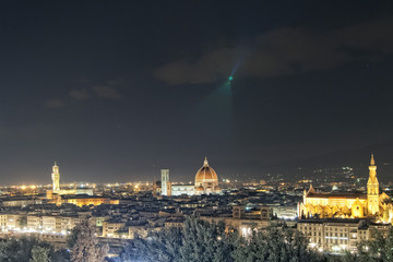 Florence night view cityscape