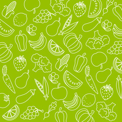 Background fruits and vegetables