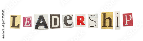 Leadership, Cutout Newspaper Letters