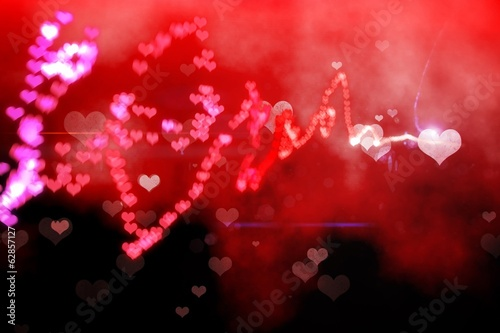 Digitally generated love background