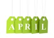 Green april etiquette tag