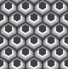 Hexagons texture. Seamless geometric pattern. Vector art.