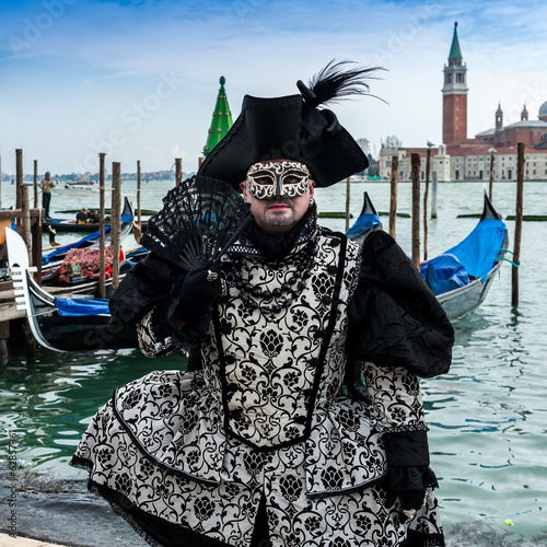 Papiers peints Venise Personnage de Carnaval, Venise