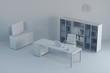 Sauberes weißes Büro